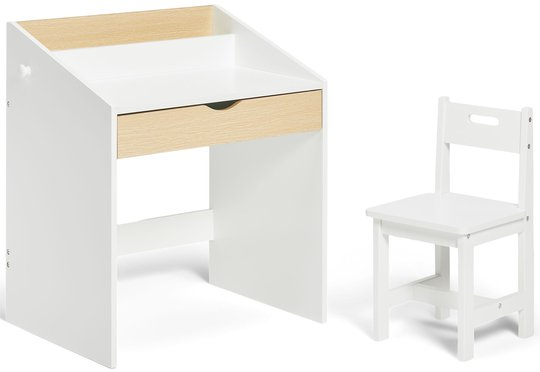 Alice & Fox Skrivebord og Stol, Hvit