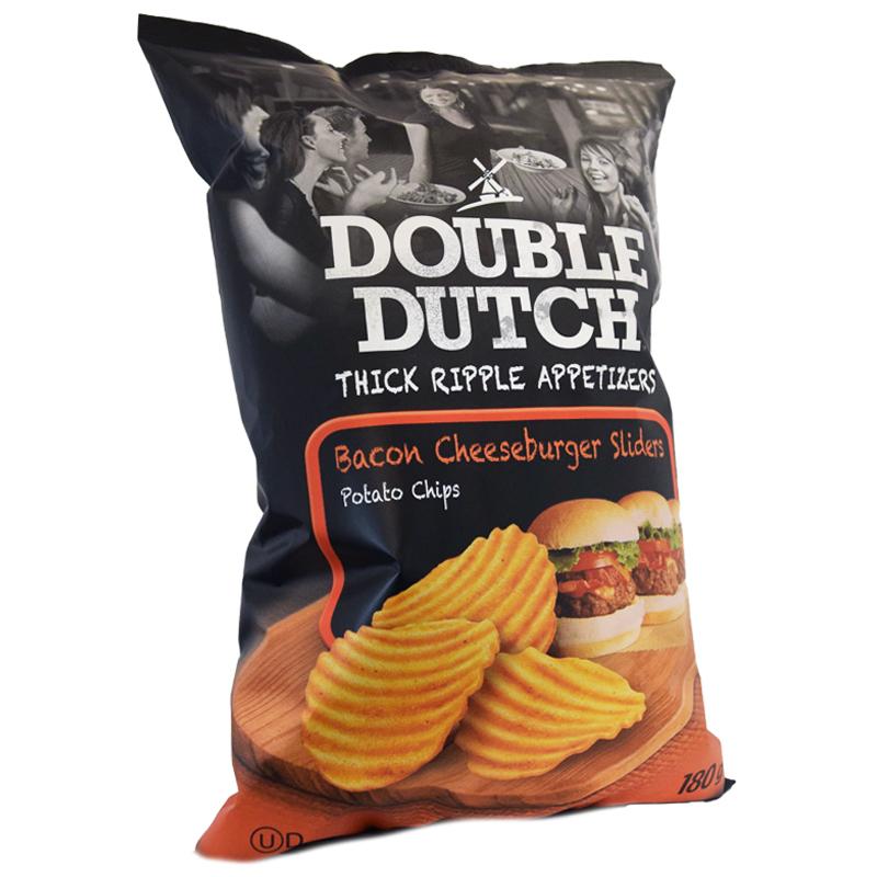 Chips Bacon & Cheeseburgers 180g - 46% rabatt