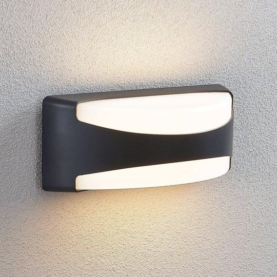 LED-ulkoseinälamppu Neven, IP65, tummanharmaana