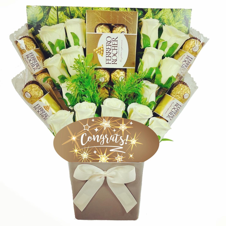 The Congrats Ferrero Rocher Chocolate Bouquet