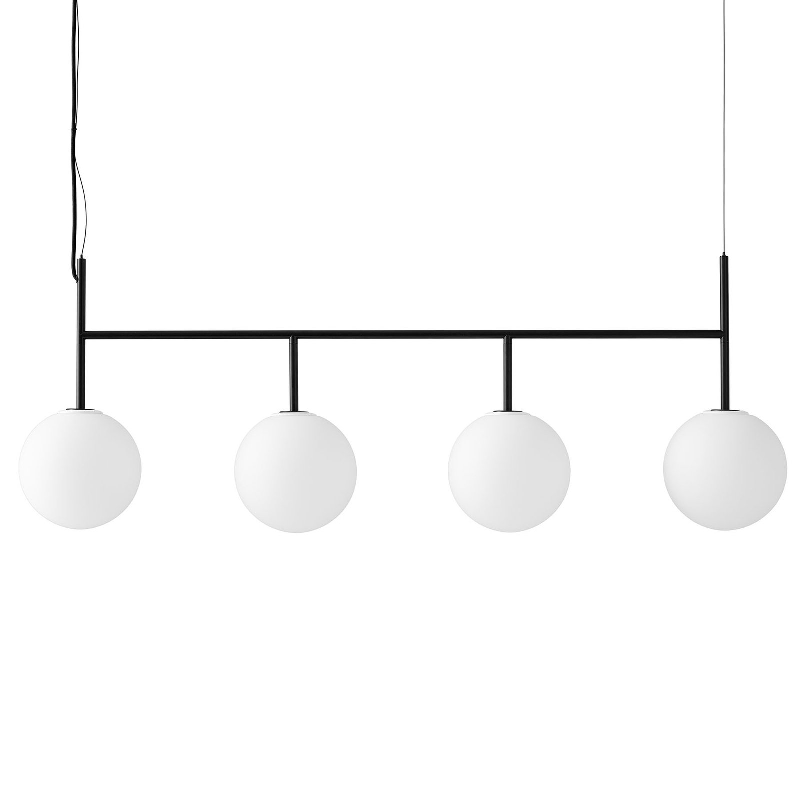 Menu TR Bulb DTW LED-pendel 4lk svart/opal matt