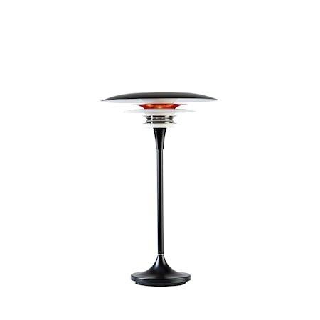 Diablo Bordlampe Mattsvart /rød LED 30 cm
