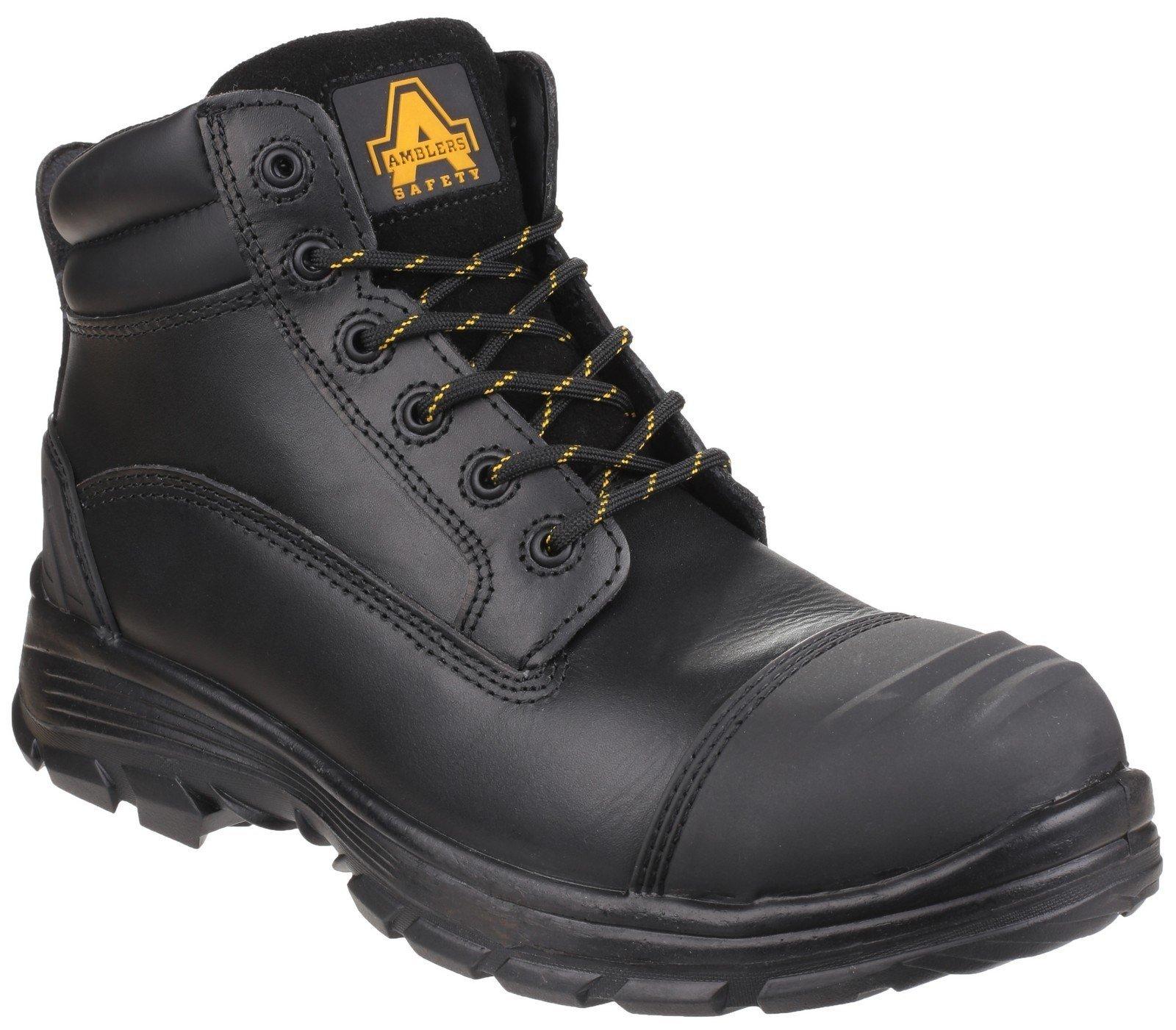 Amblers Unisex Safety QUANTOK S3 RUBBER Boot Black 24865 - Black 6