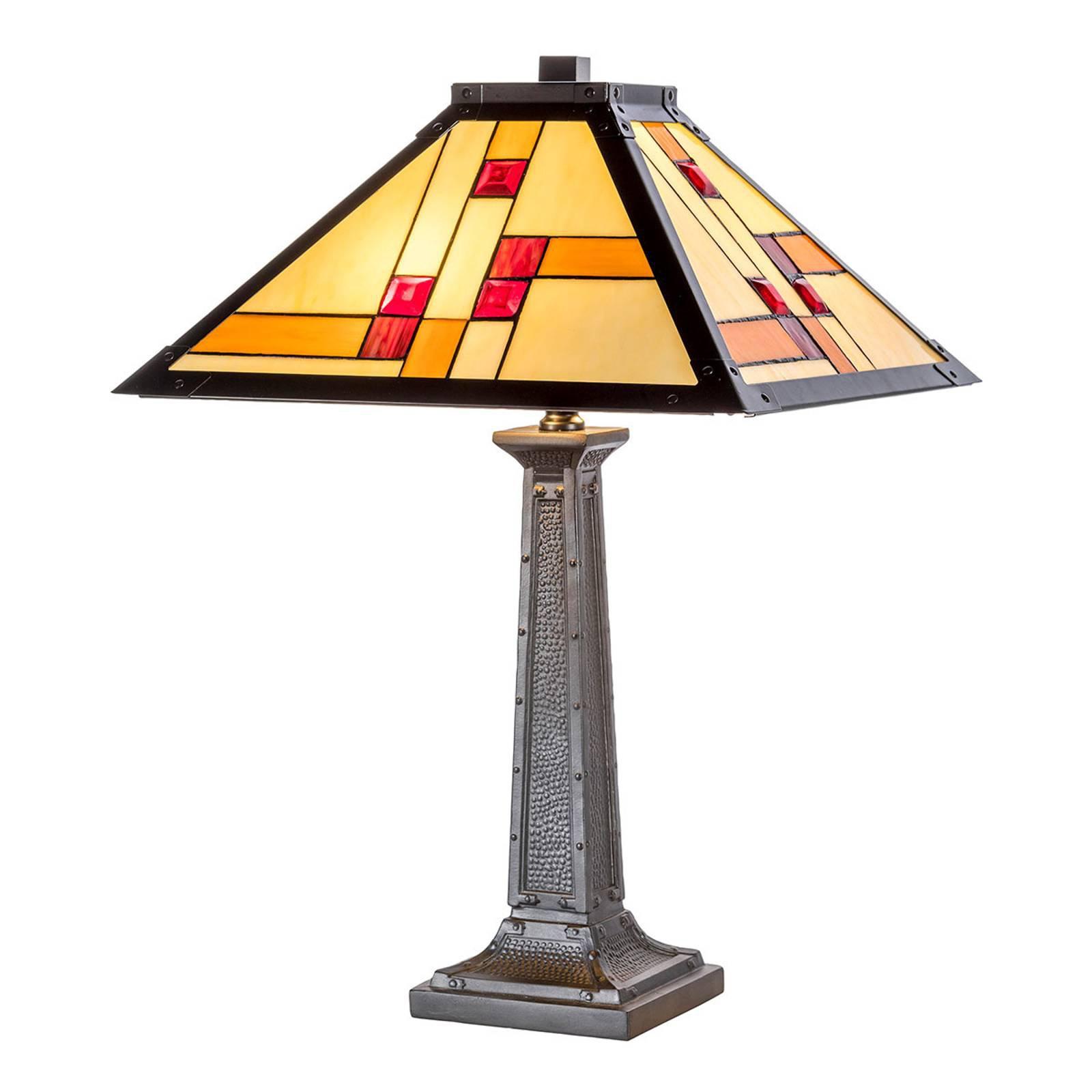 Bordlampe KT1836-40+P1836 i Tiffany-stil