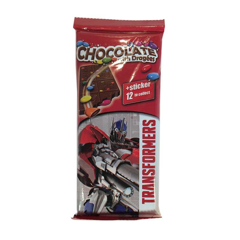 Chokladkaka Transformers m klistermärke - 41% rabatt