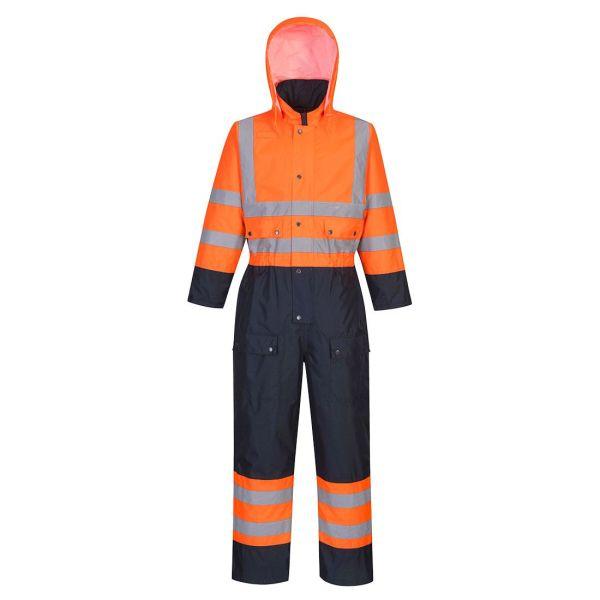Portwest S485 Overall Hi-Vis orange/marinblå S