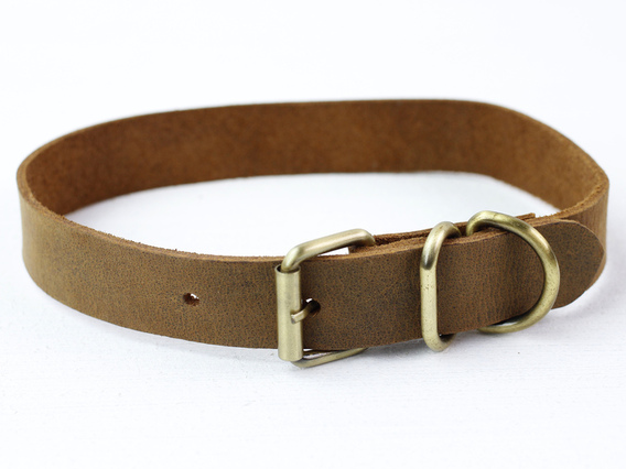 Leather Dog Collar Large