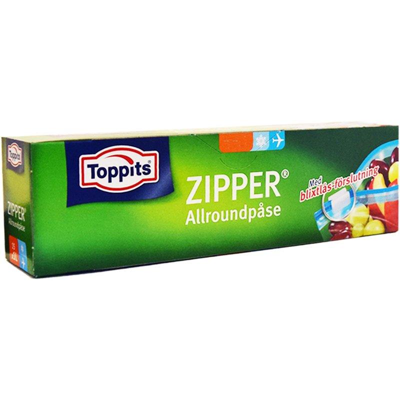 "Monikäyttöpussi ""Zipper"" 15 x 1l - 17% alennus"