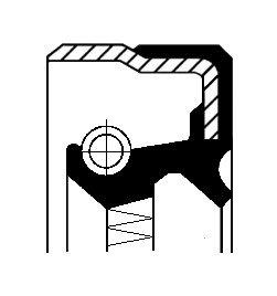 Oljepackningsring, differential, Höger, Utgång