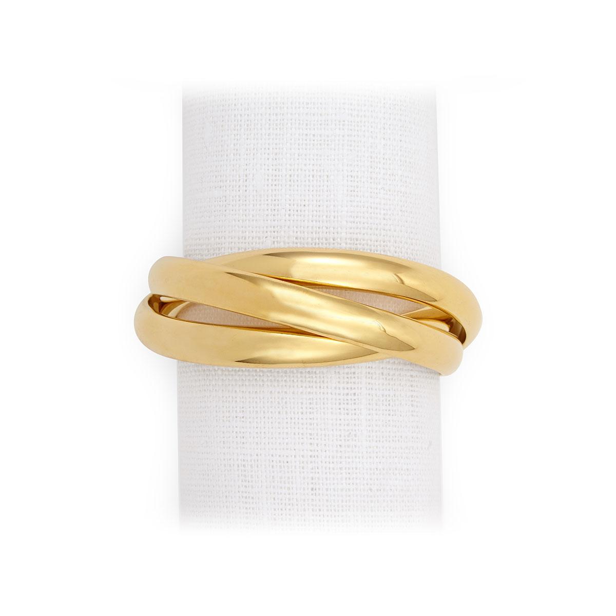 L'Objet I Three-Ring Napkin Jewels Gold