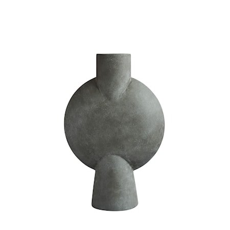 Sphere Vase Bubl Hexa Dark Grey