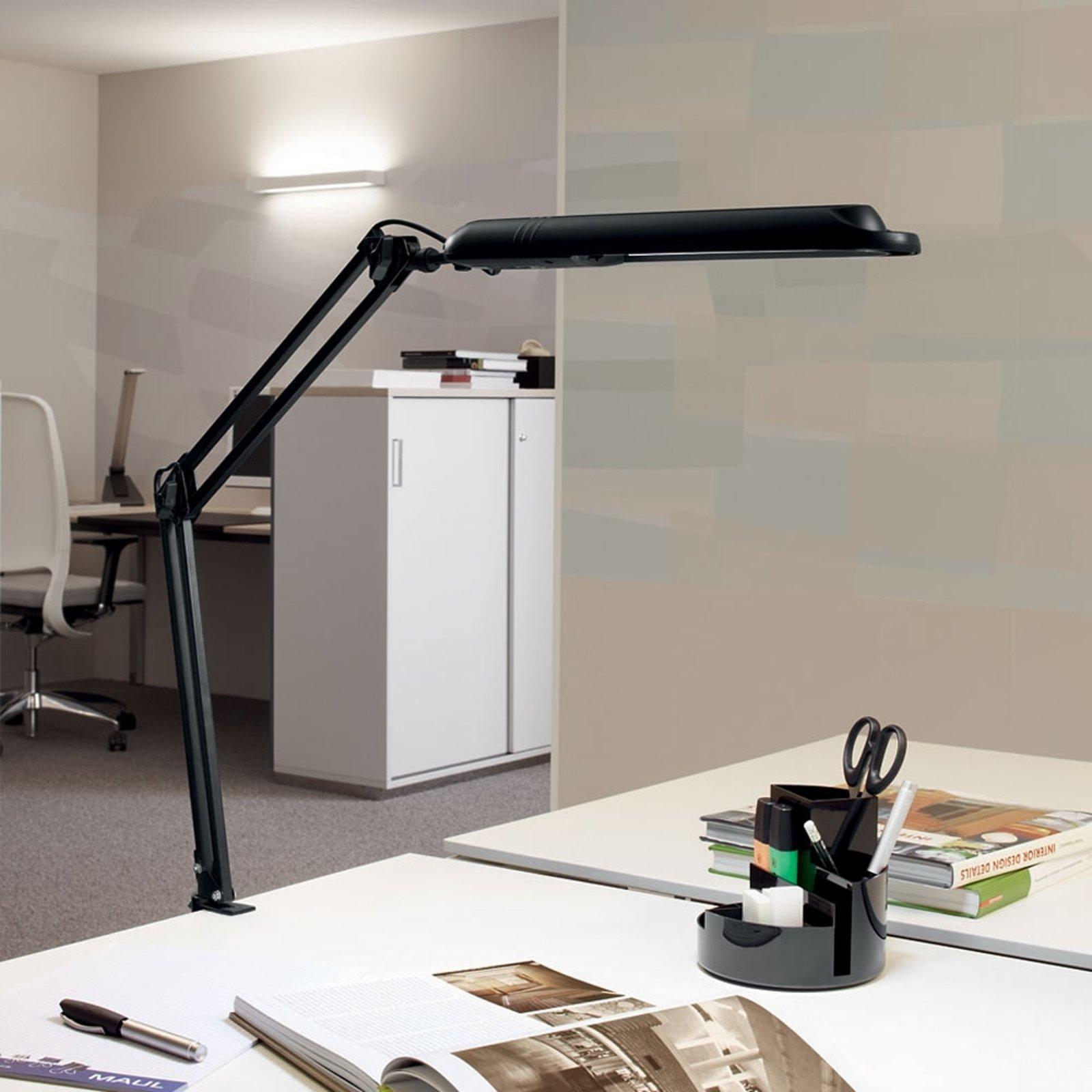 LED-bordlampe Atlantic m klemmefot svart