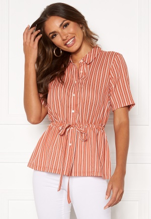 Happy Holly Ebba shirt blouse Coral / Striped 44/46