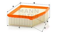 Ilmansuodatin MANN-FILTER C 23 124