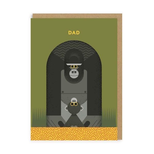 Dad Gorilla Greeting Card