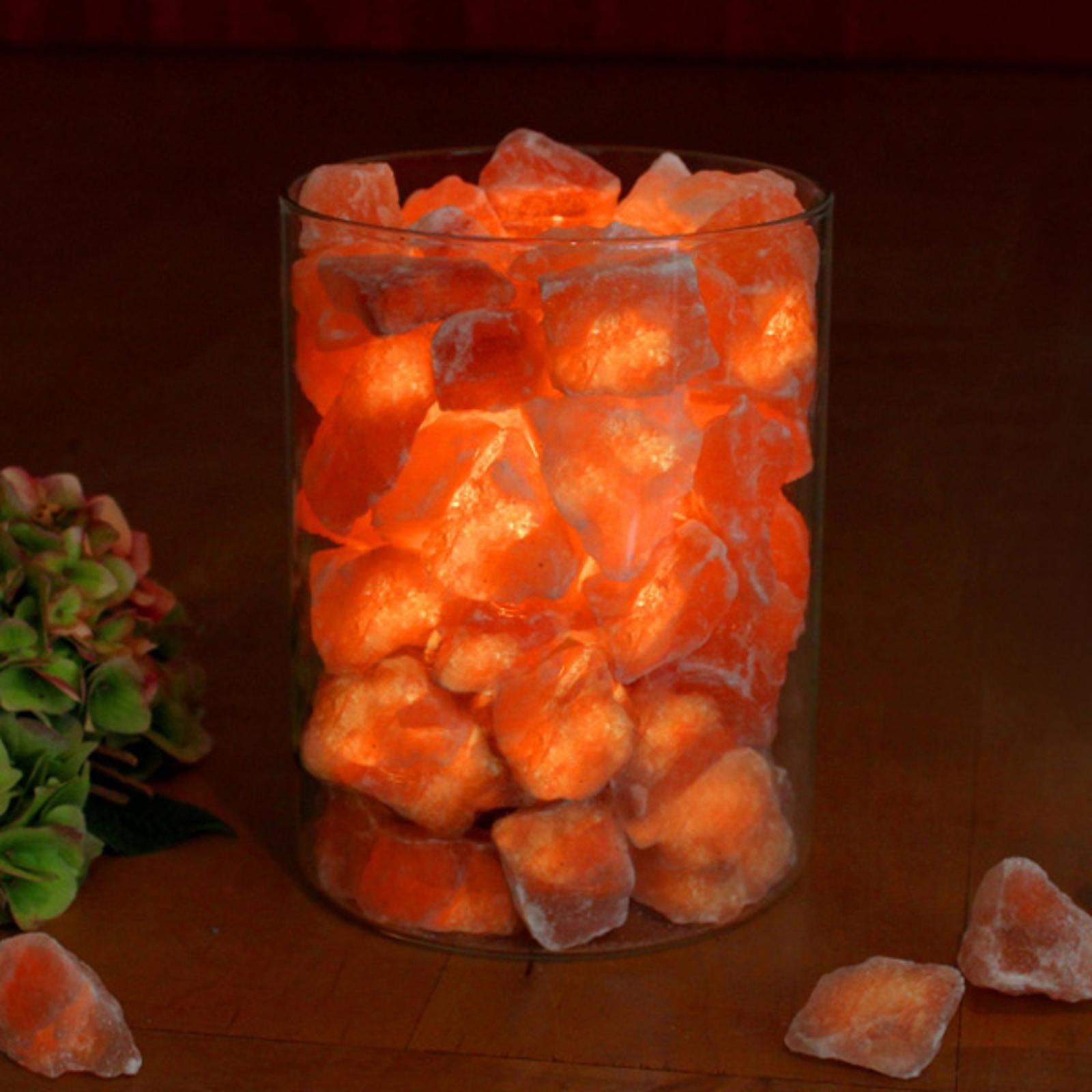 Suolakristallituli lasissa