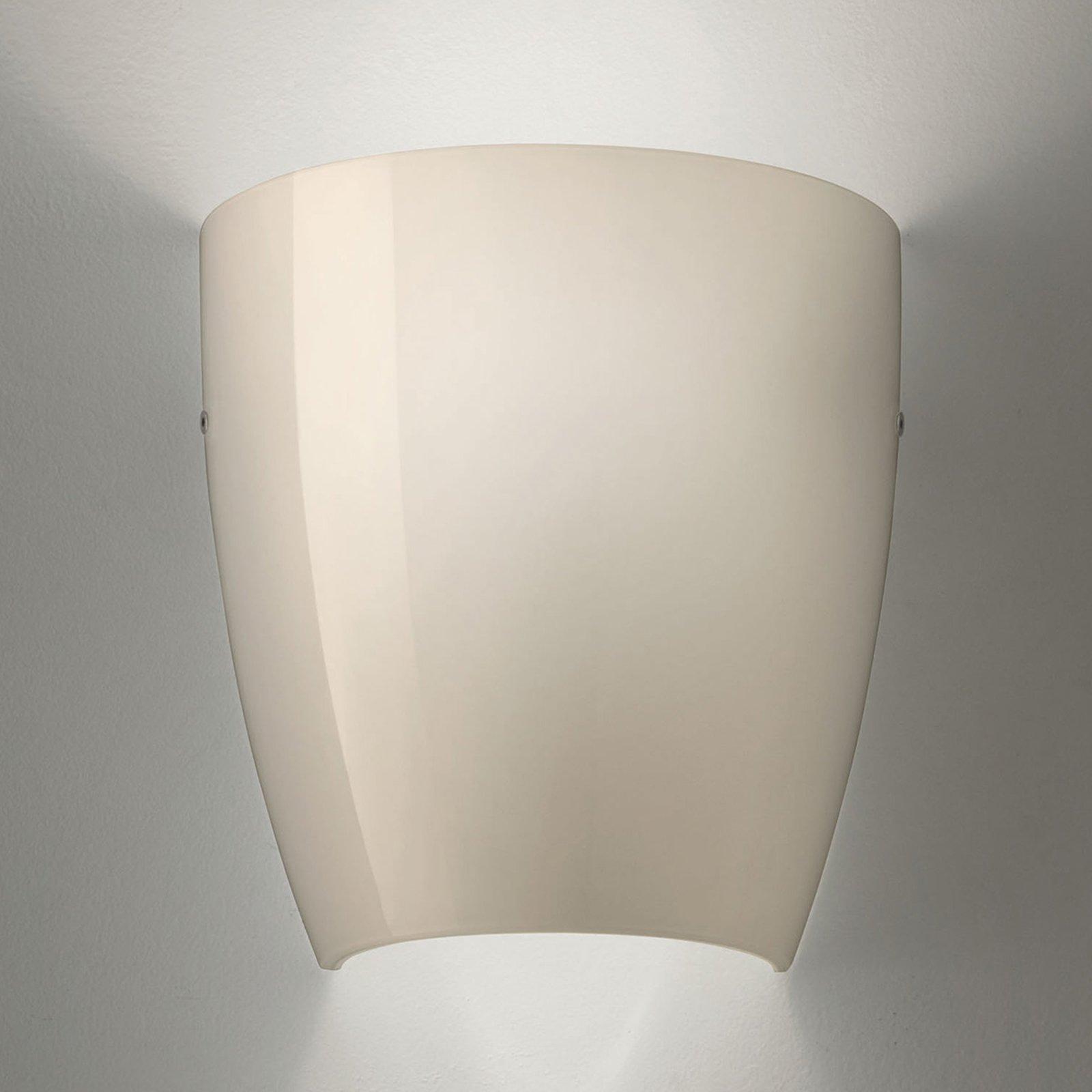 Vegglampe Dafne av glass glossy grå