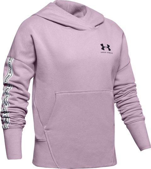 Under Armour Sportstyle Fleece Hoodie, Pink Fog M