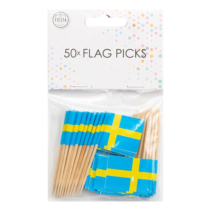 Partypicks Sverige - 50-pack