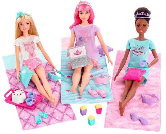Barbie Pysjamasparty 3 Dukker