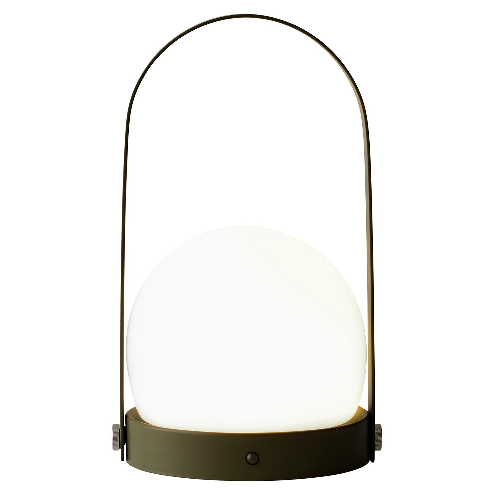 Menu Carrie LED-koristevalaisin, ladattava, oliivi
