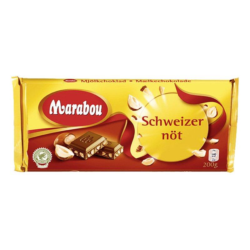 Marabou Schweizernöt Chokladkaka - 200 gram