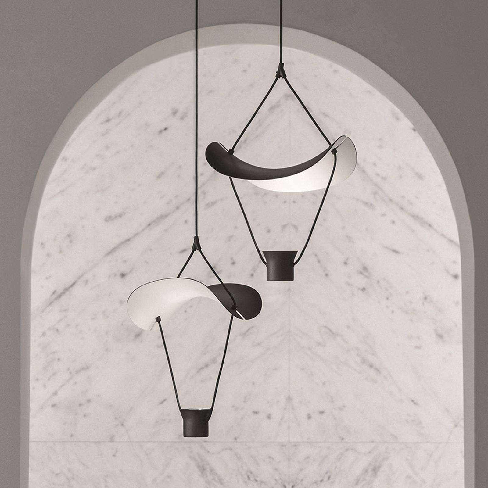 LED-riippuvalaisin Vollee S1 P, 44cm, up, musta
