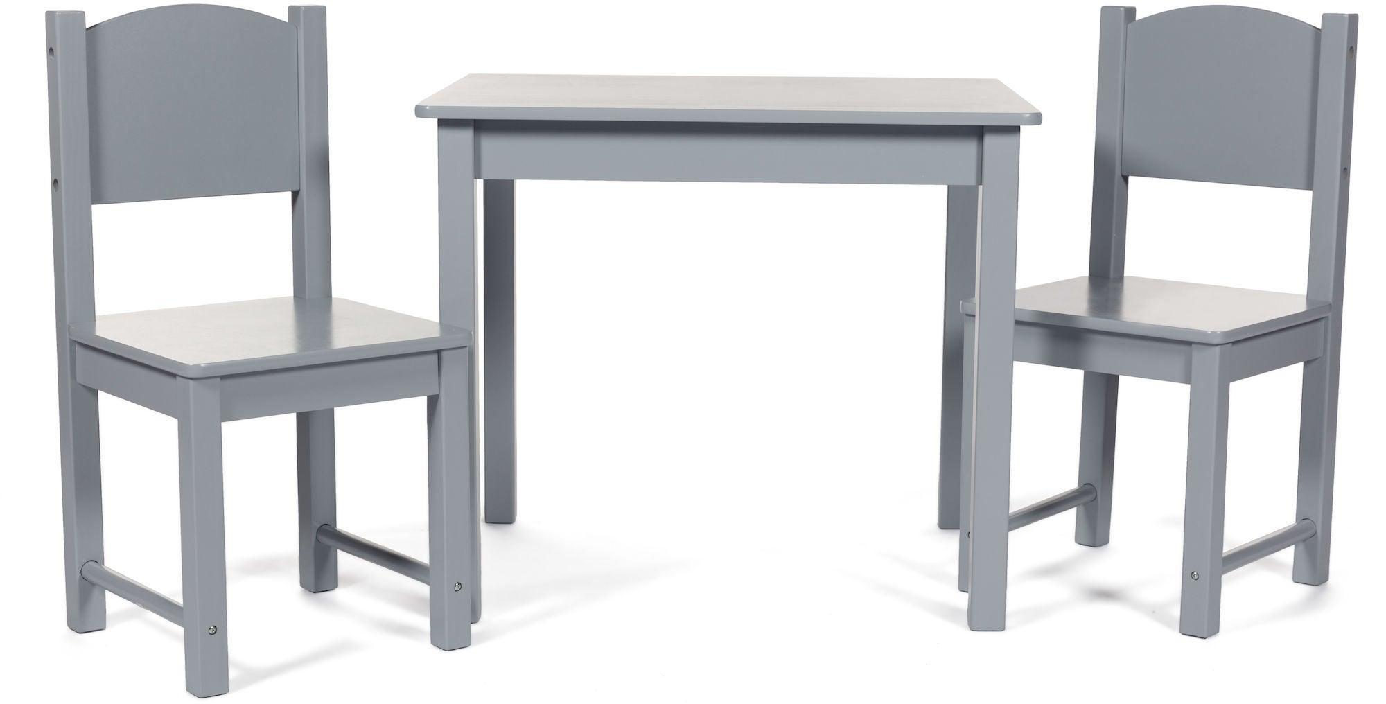 Woodlii Pöytä ja Tuolit, Harmaa