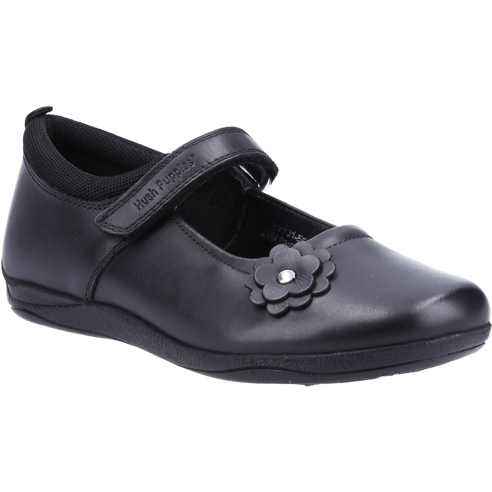 Hush Puppies Kid's Zara Junior School Flat Shoe Black 32731 - Black 13