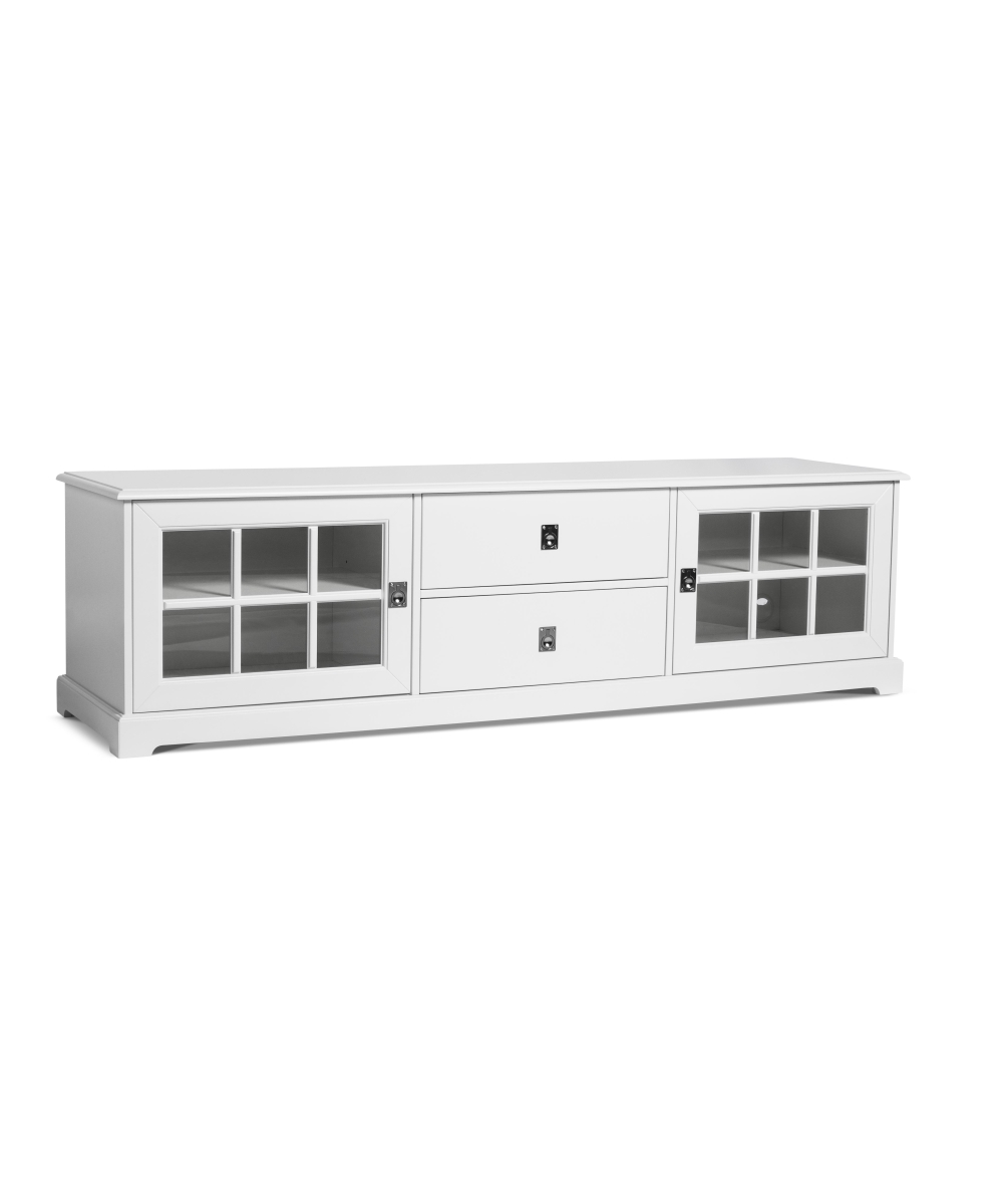 Smögen TV-bänk glasdörrar 180 cm vit, Mavis