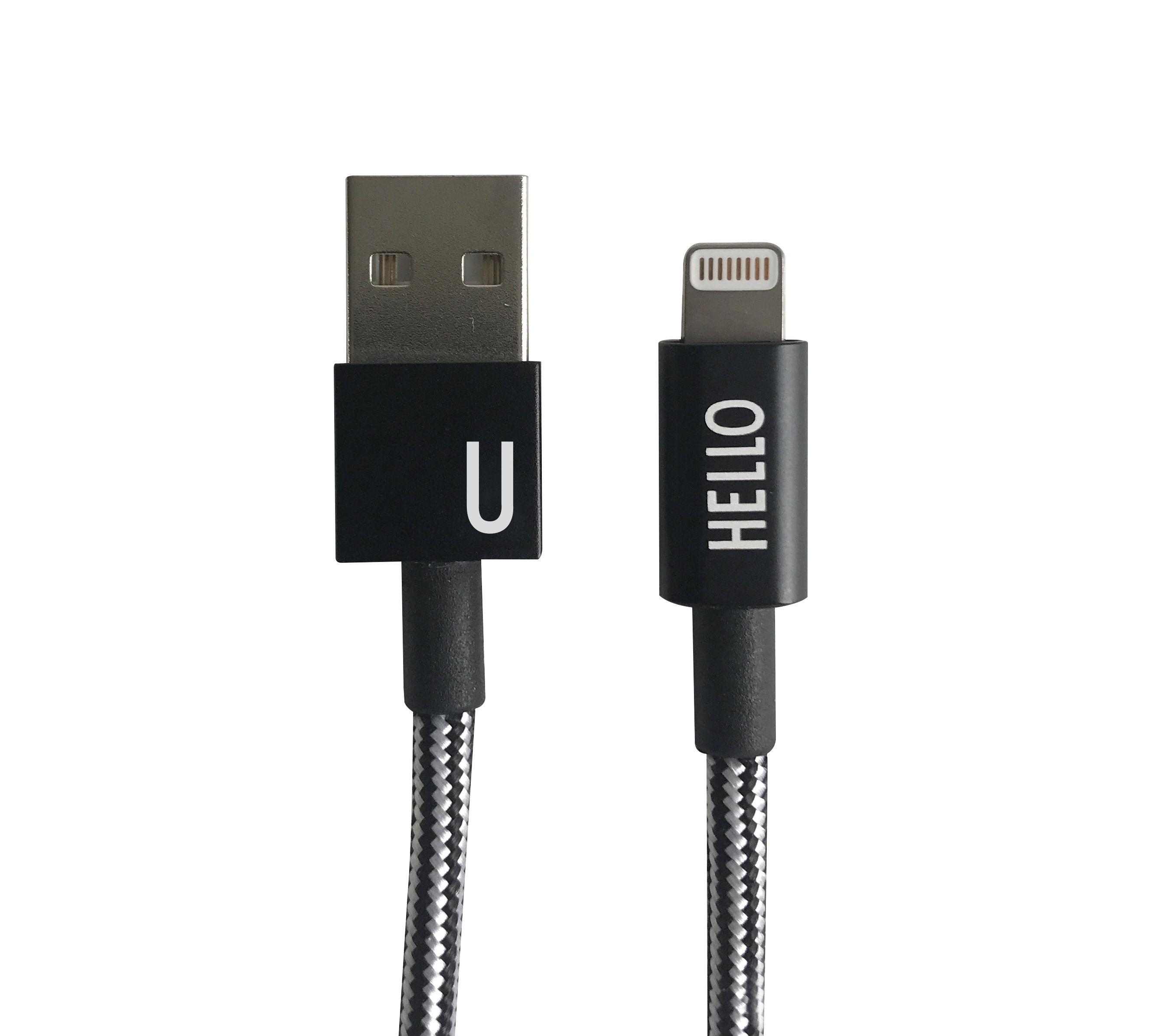 Design Letters - Lightning Cable 1 Meter U - Black (60201010U)