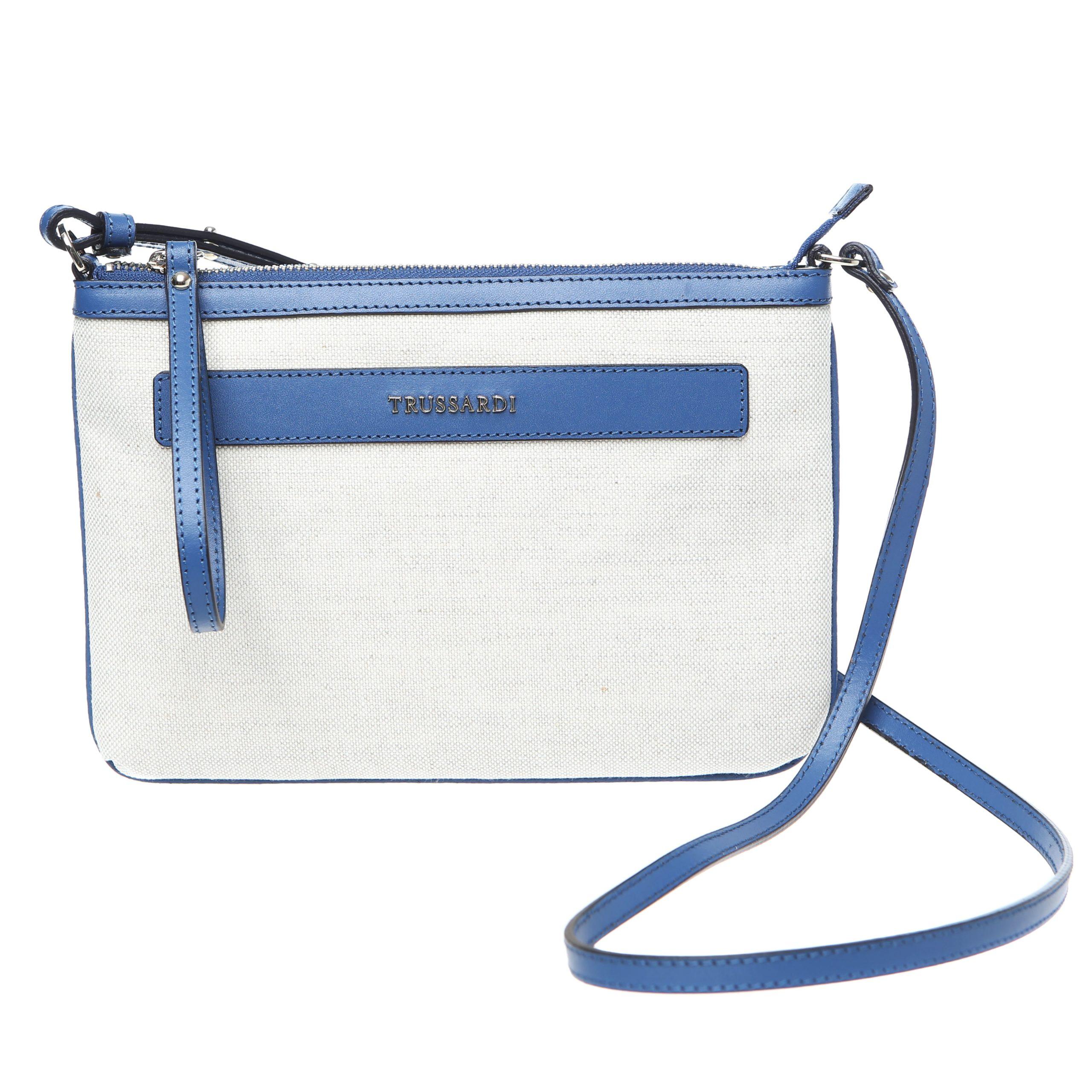 Trussardi Women's Crossbody Bag White 76B121M_128Natural-Blue
