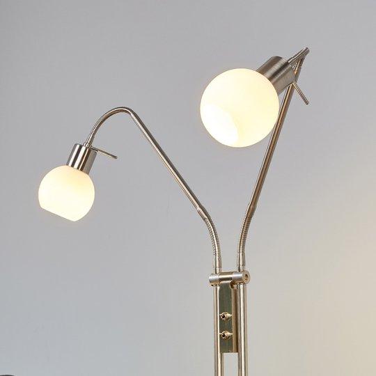 2-lampp. Elaina LED-lattiavalaisin, matta nikkeli