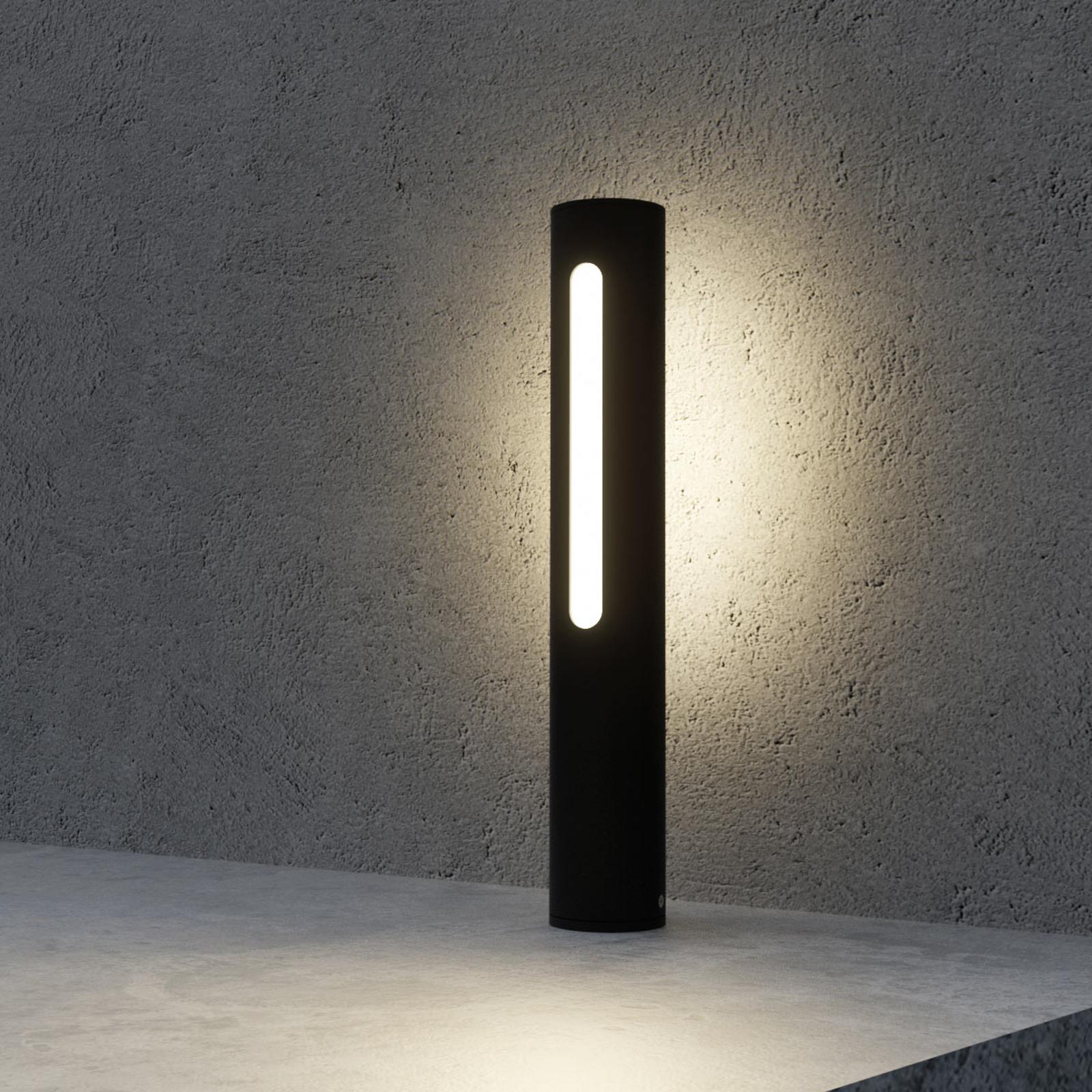 Tomas tummanharmaa LED-pollarivalaisin