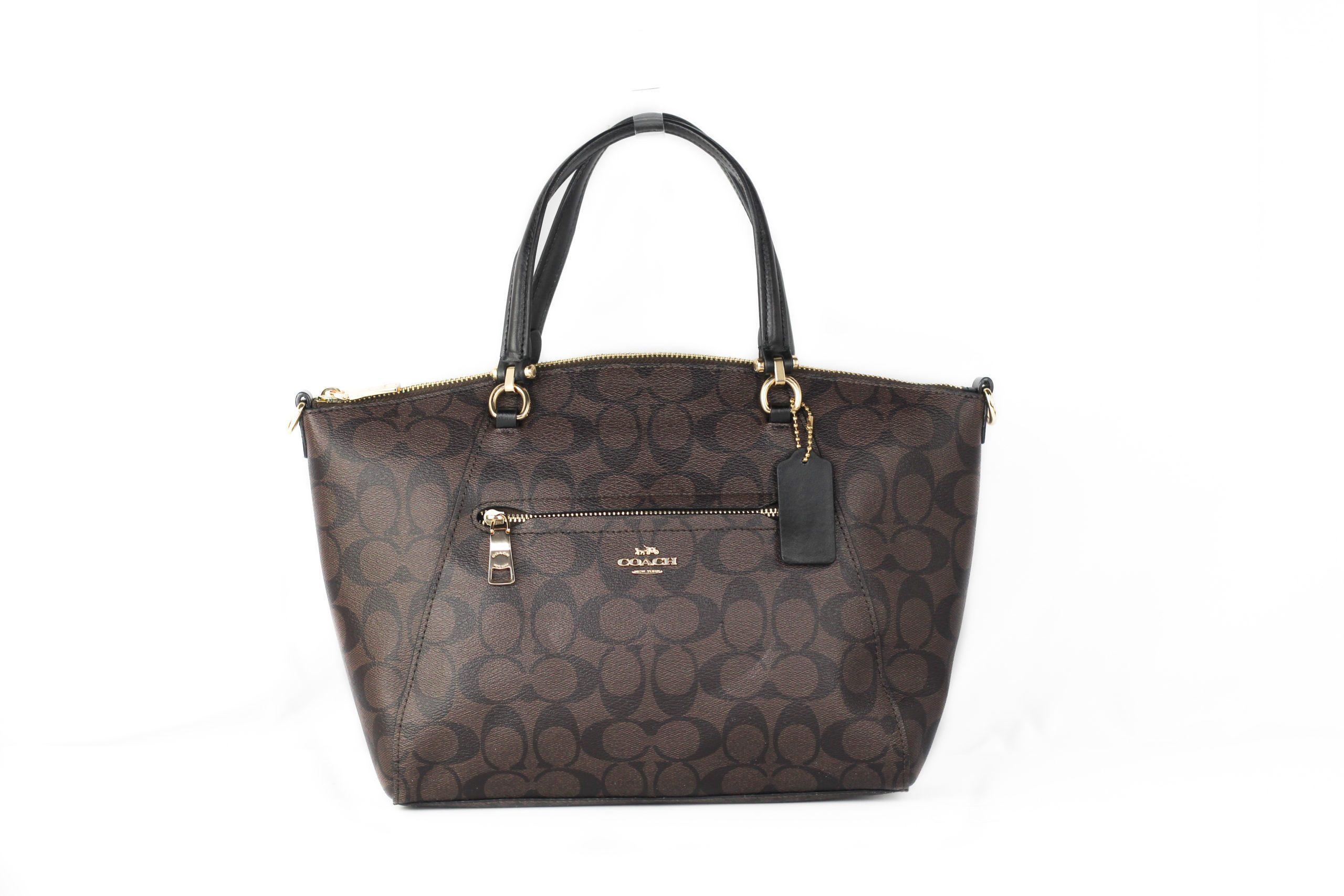 COACH Women's Katy Dome Satchel Bag Black 87302