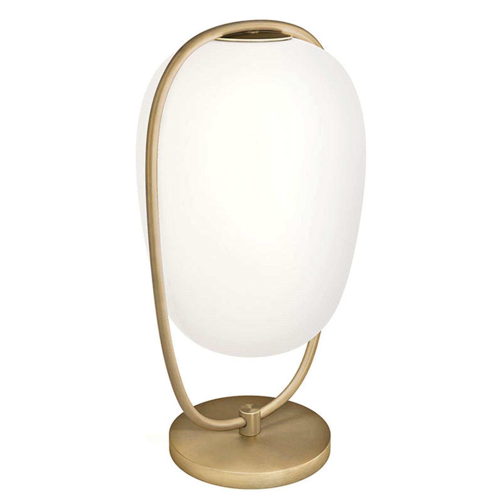 Kundalini Lannà bordlampe m. munnblåst glass
