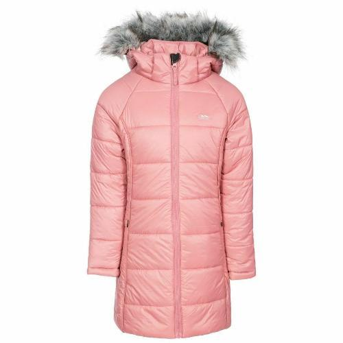 Trespass Women's Padded Hooded Casual Coat Various Colours Elimore - Dusty Rose 3-4