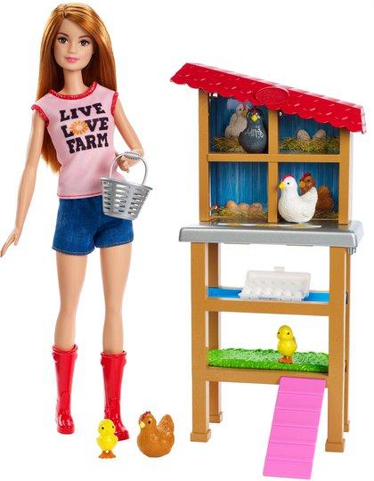 Barbie Dukke Chicken Farmer Lekesett