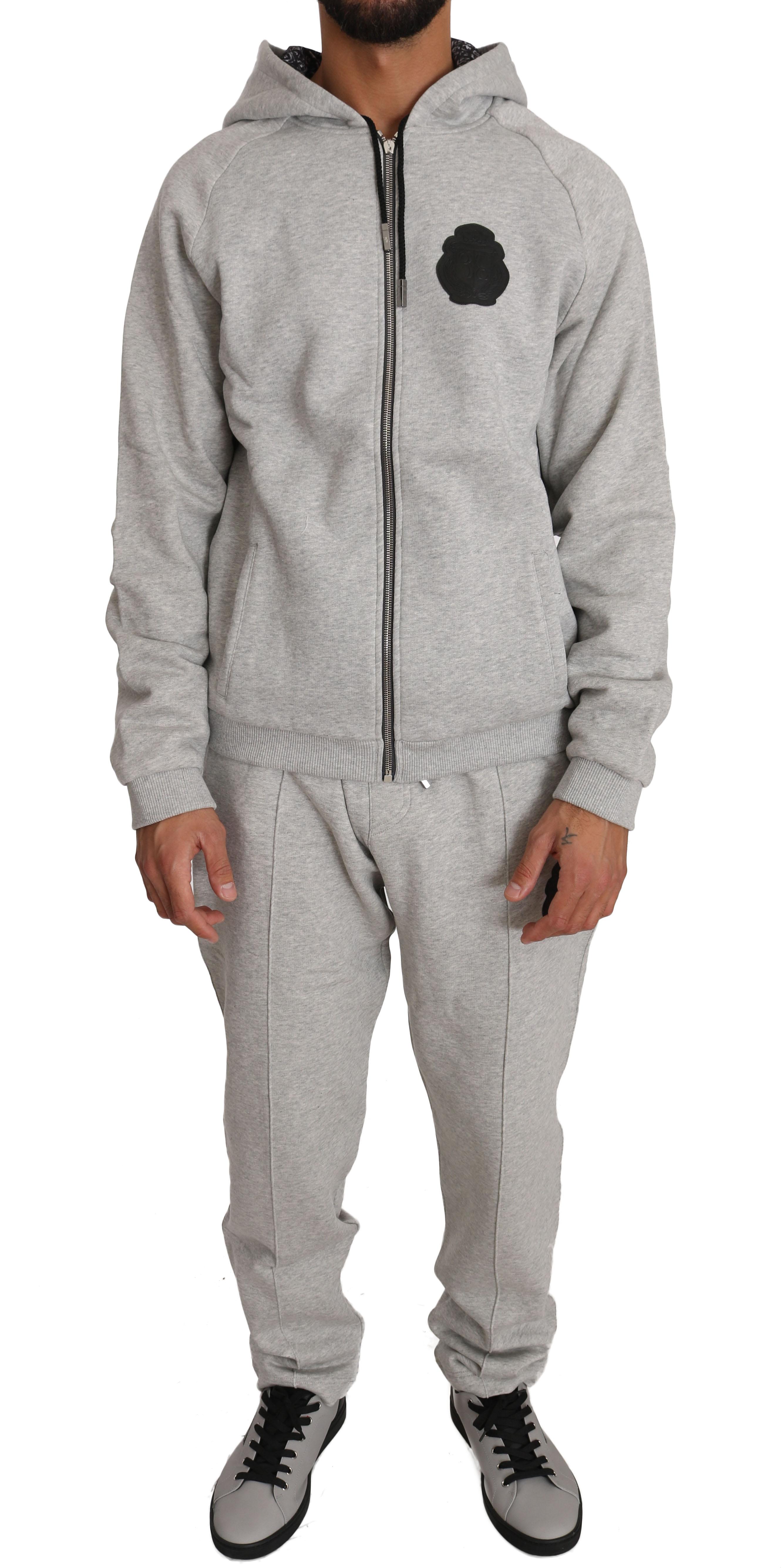 Billionaire Italian Couture Men's Hoodie Tracksuit Grey BIL1027 - L