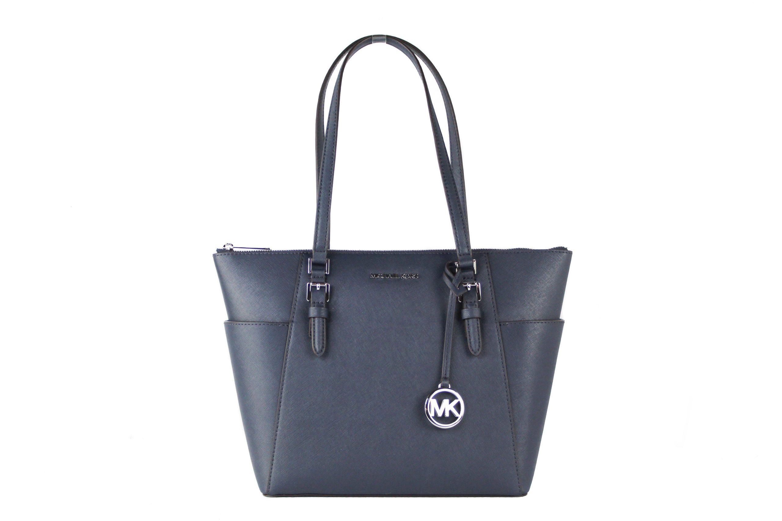 Michael Kors Women's Charlotte Tote Bag Blue 60739