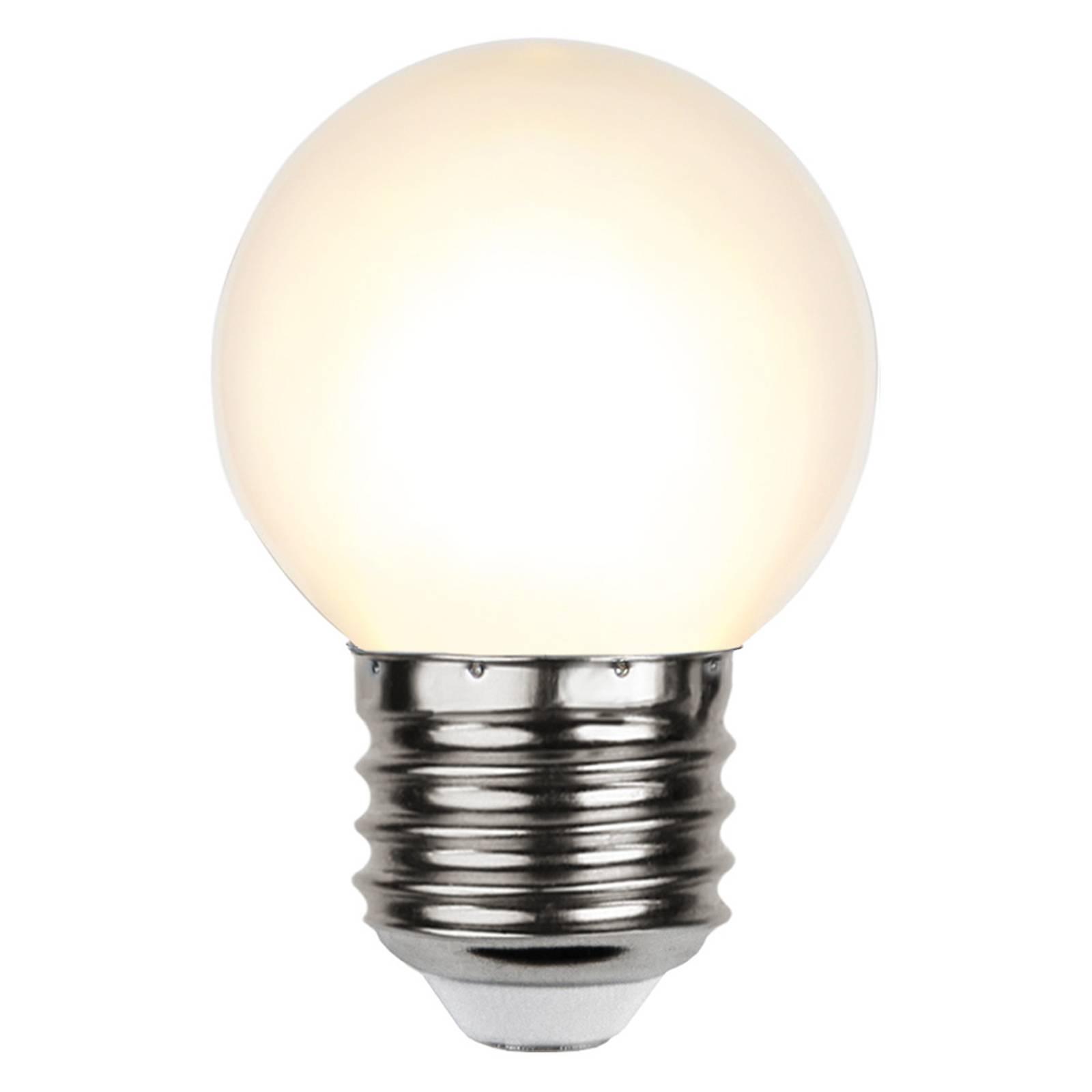 LED-lamppu E27 G45 valoketjuihin valkoinen 2 700 K