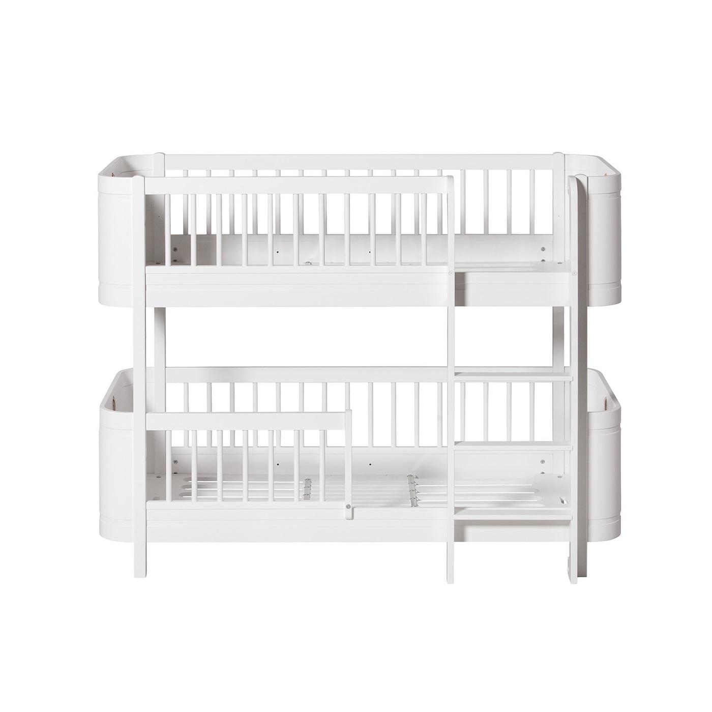 Våningssäng WOOD MINI+ vit, Oliver Furniture