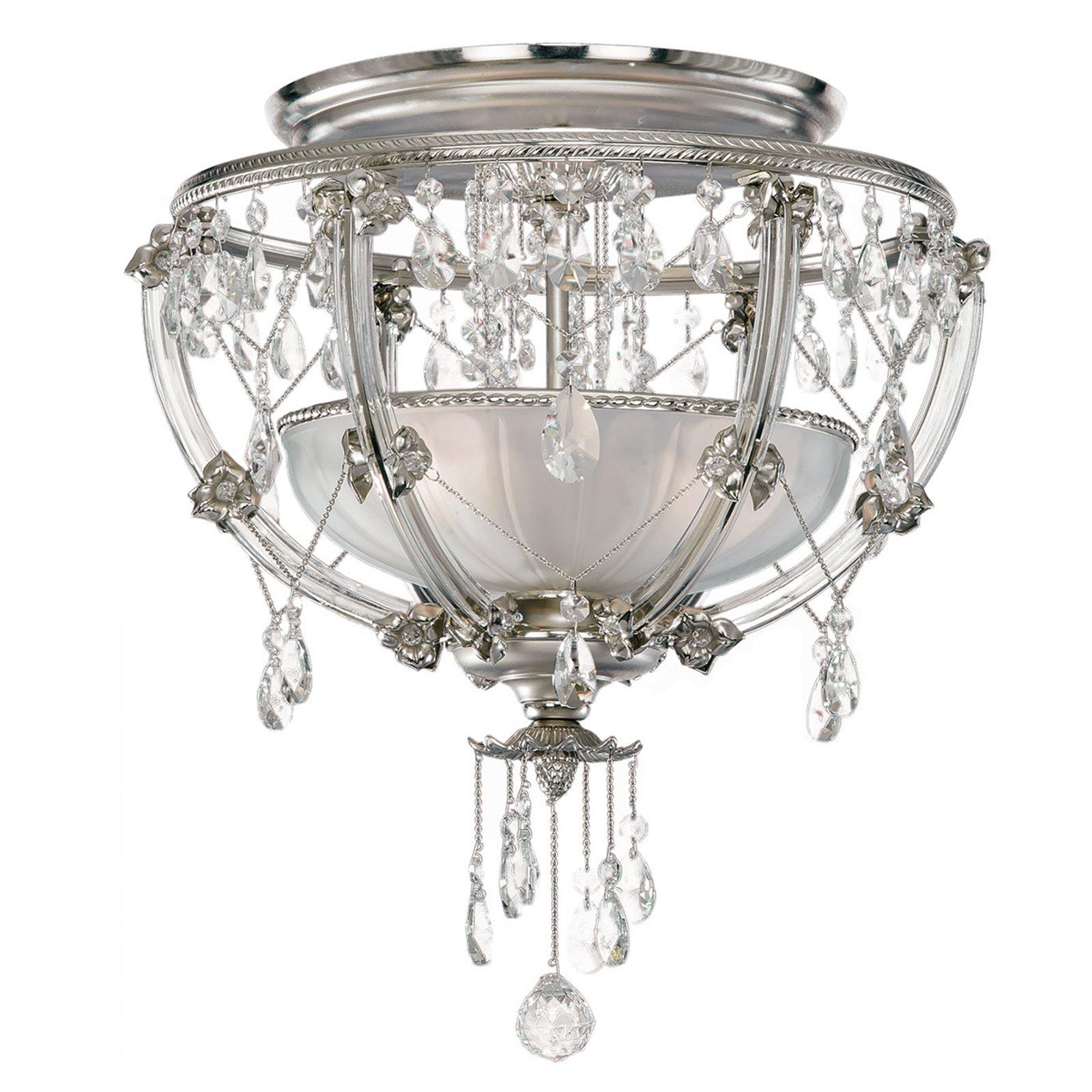 Krystall-taklampe Trina