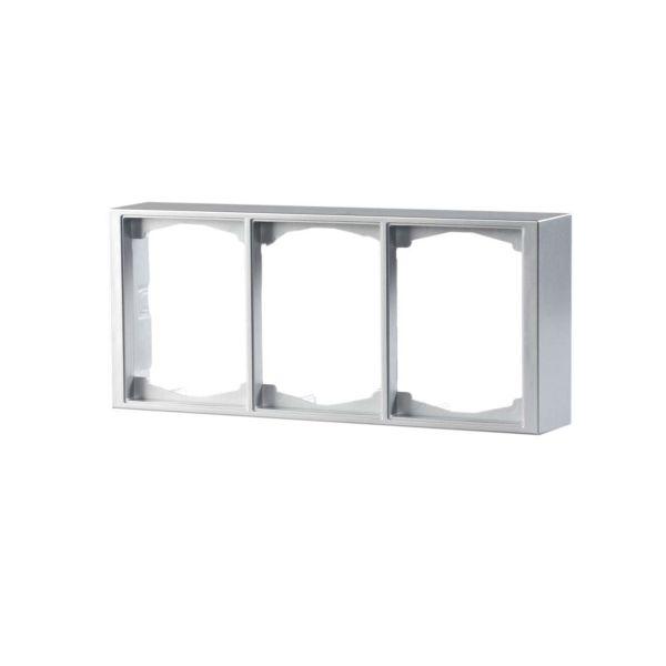 ABB Impressivo Korotuskehys 2-osainen, alumiini 3-paikkainen