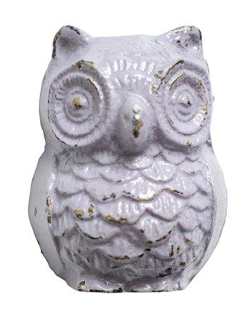 Knopp Owl i jern 5x4 cm - Lilla