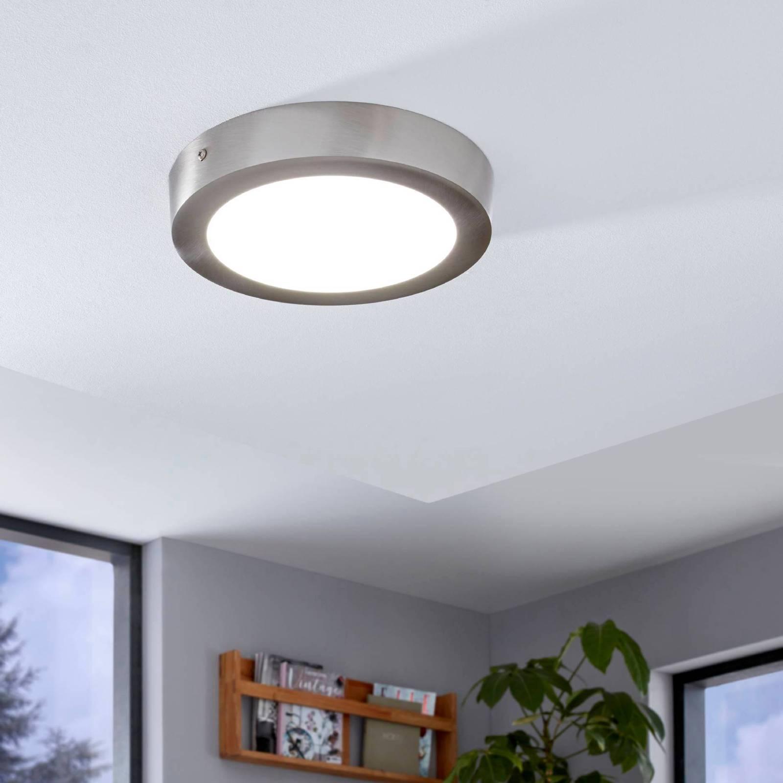 Fueva-Connect LED-kattovalaisin, 22,5 cm, nikkeli