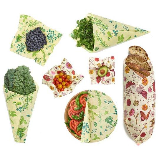 Bee's Wrap Veganskt Folie Variety Pack - Herb Garden & Meadow Magic, 7 st