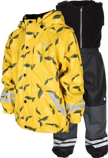 Lindberg Nordskog Fôret Regnsett, Yellow, 80