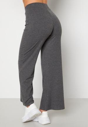 Happy Holly Scarlet wide leg pants Dark grey melange 36/38