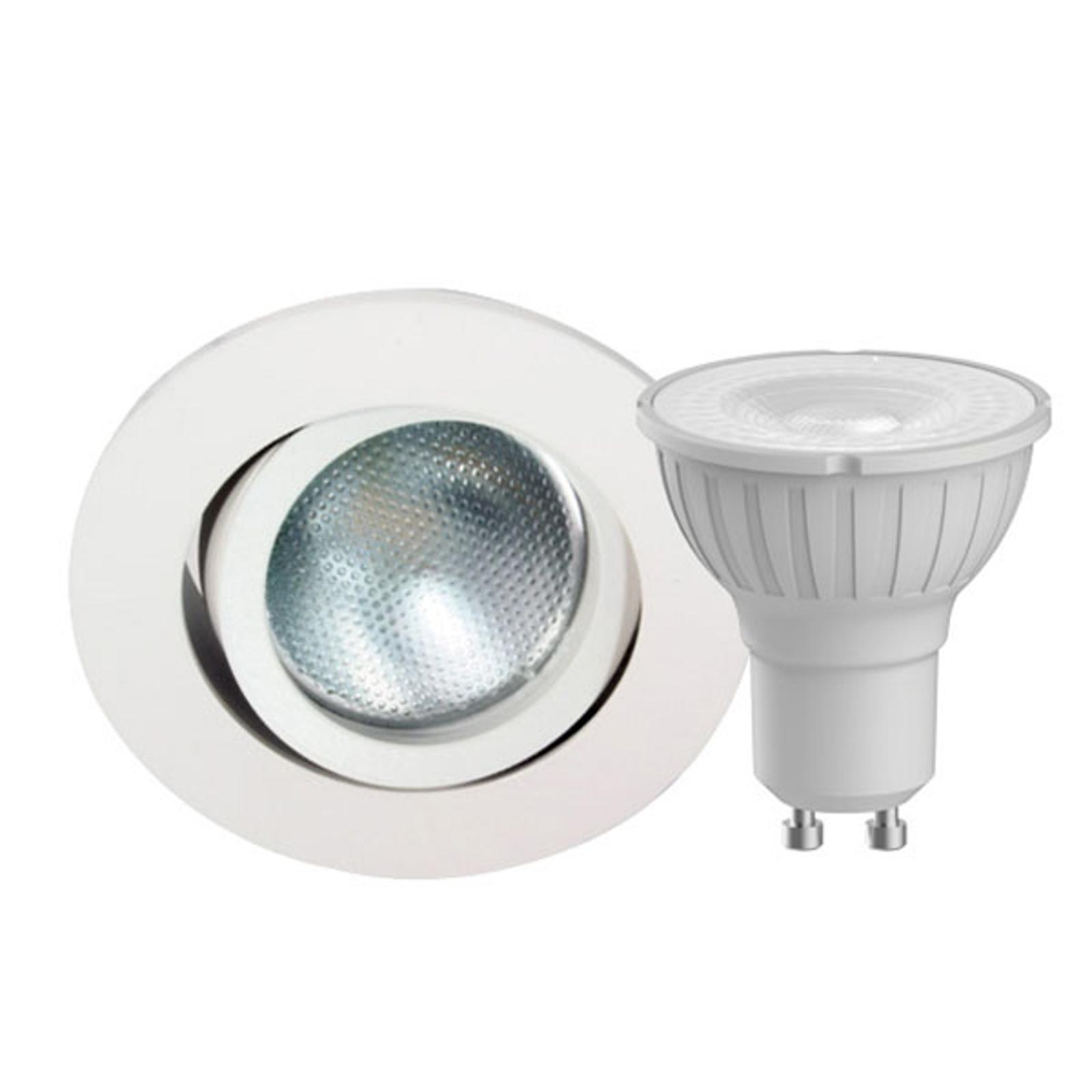 Megaman DecoclicSet -LED-spotti GU10 5W valkoinen